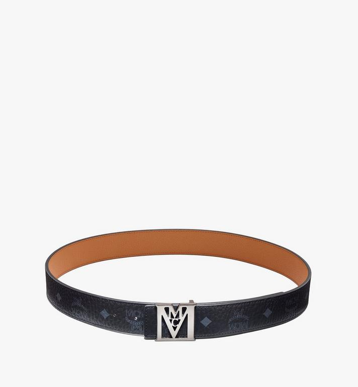 "MCM Mena M Reversible Belt 1.5"" in Visetos Black MXBAALM04BK110 Alternate View 3"