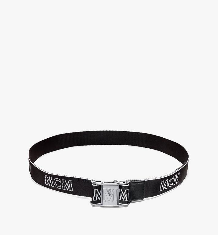 "MCM Industrial Logo Webbing Belt 1.5"" Black MXBAAMM01BK001 Alternate View 3"