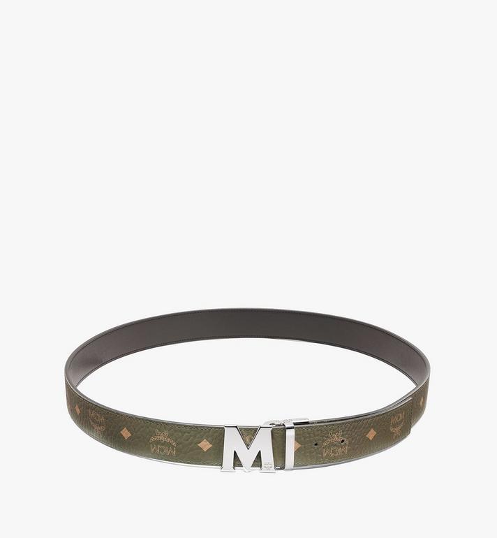 MCM เข็มขัดใส่ได้สองด้าน Claus M ขนาด 1.5 นิ้วลาย Visetos Green MXBAAVI02JH001 Alternate View 2