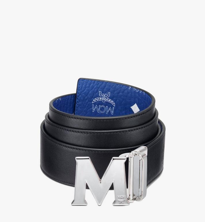 "MCM Claus M Reversible Belt 1.75"" in Visetos Blue MXBASVI11H1001 Alternate View 2"