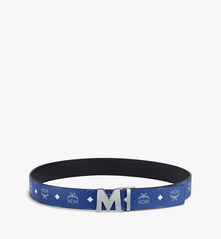 "MCM Claus M Reversible Belt 1.75"" in Visetos Blue MXBASVI11H1001 Alternate View 3"