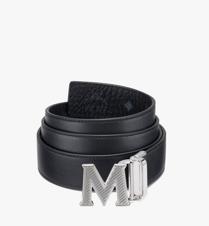 MCM Visetos 系列的 Claus Oblique M 1.5 吋可翻轉皮帶 Black MXBASVI17BK001 Alternate View 2