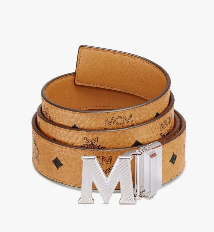"""MCM Claus Oblique M Reversible Belt 1.5"""" in Visetos Alternate View"""