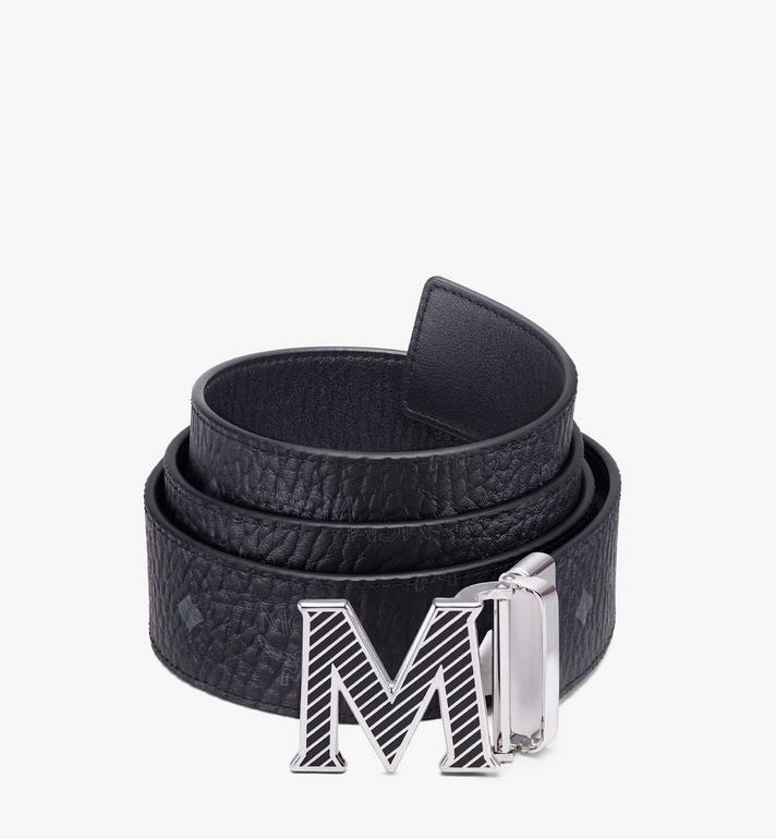 "MCM Claus Oblique M Reversible Belt 1.5"" in Visetos Alternate View"