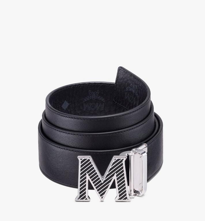 MCM Visetos皮革 Claus Oblique M 1.5 吋可翻轉使用皮帶 Black MXBASVI19BK001 Alternate View 2