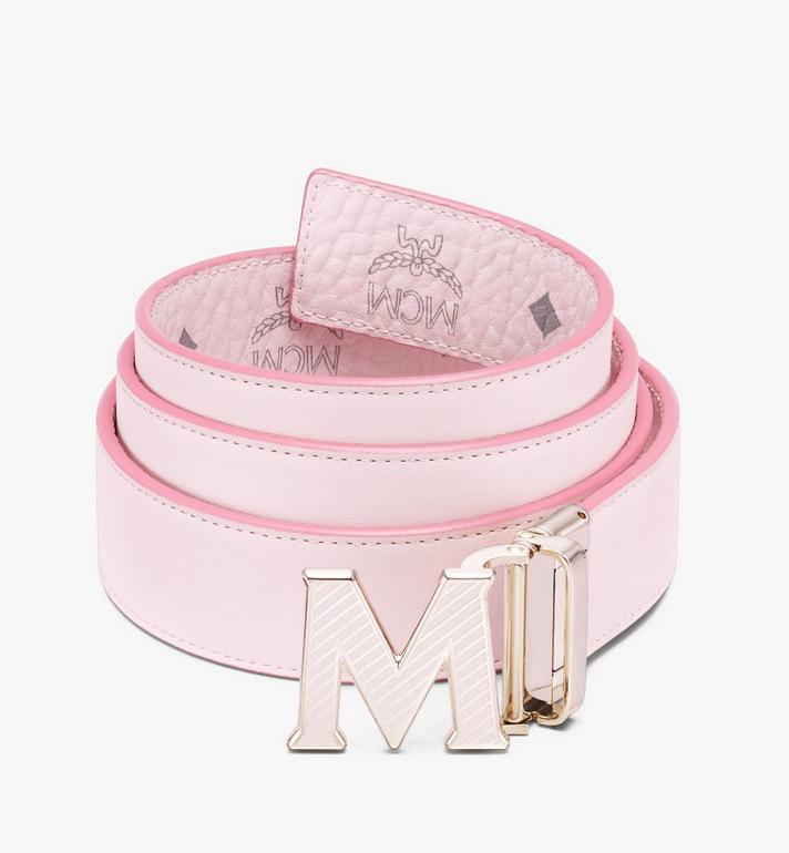 MCM Visetos皮革 Claus Oblique M 1.5 吋可翻轉使用皮帶 Pink MXBASVI20QH001 Alternate View 2