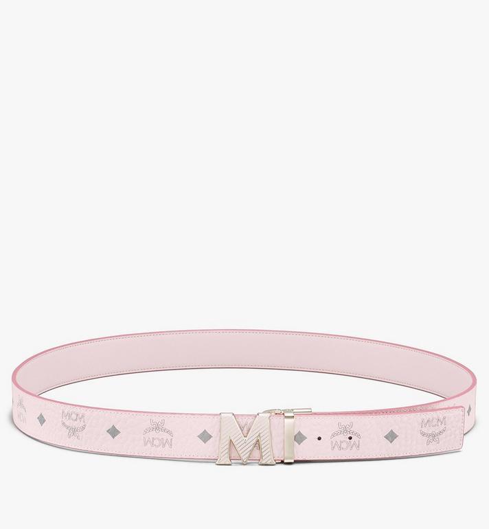 """MCM Claus Oblique M Reversible Belt 1.5"""" in Visetos Pink MXBASVI20QH001 Alternate View 3"""