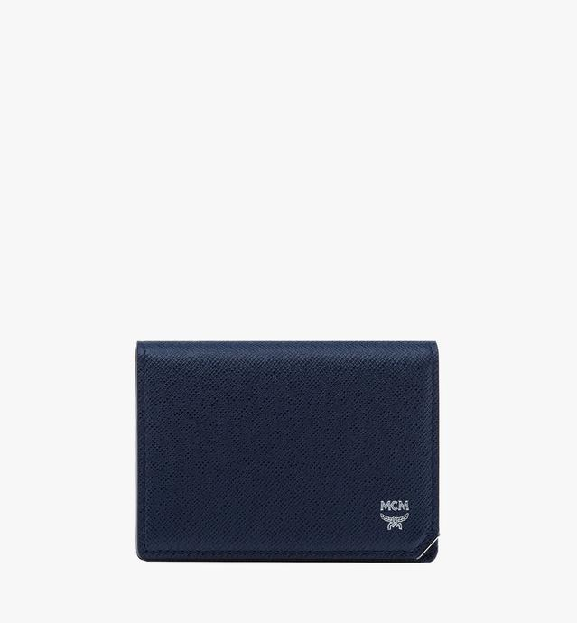 New Bric Card Case in Embossed Leather