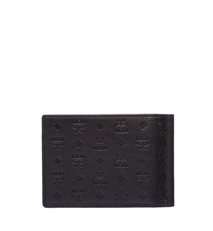 MCM Sigmund Money Clip in Monogram Leather Black MXC6SIE17BK001 Alternate View 3