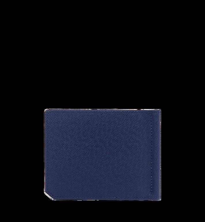 MCM กระเป๋าสตางค์คลิปธนบัตร New Bric ทำจากหนังอัดลาย Navy MXC8ALL45VY001 Alternate View 3