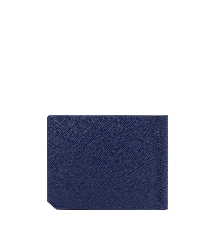 MCM New Bric Money Clip Wallet in Embossed Leather Navy MXC8ALL45VY001 Alternate View 3