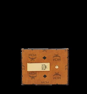 MCM Kartenetui mit Geldclip in Visetos Original Alternate View
