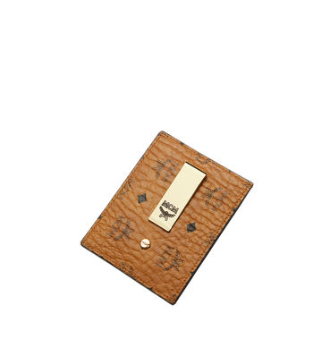 MCM Kartenetui mit Geldclip in Visetos Original Alternate View 4