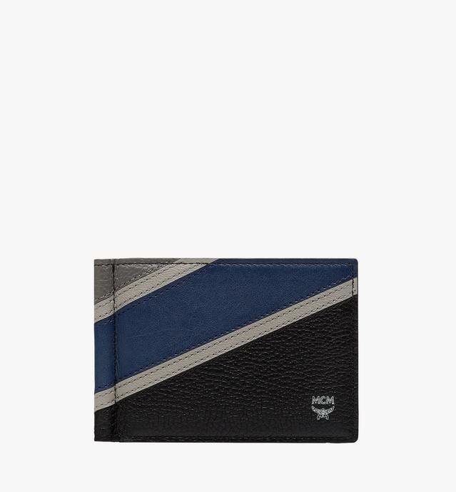 Ottomar Money Clip in Chevron Leather