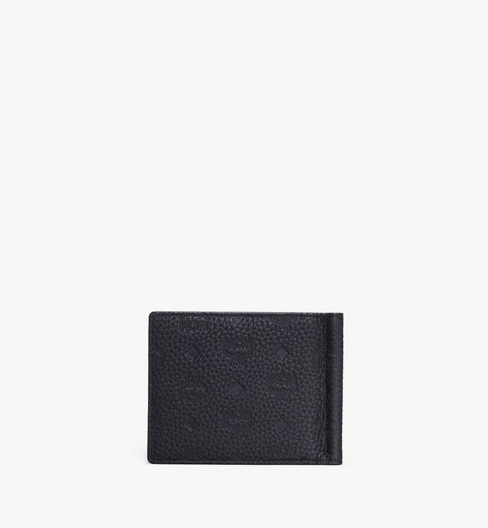 MCM Tivitat Money Clip Wallet in Monogram Leather Black MXC9ABT24BK001 Alternate View 2