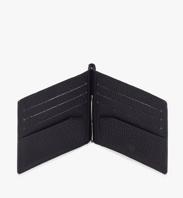 MCM Tivitat Money Clip Wallet in Monogram Leather Black MXC9ABT24BK001 Alternate View 3