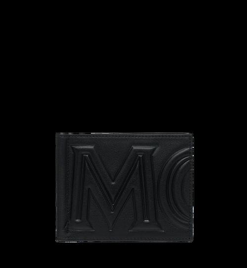 Brieftasche mit Geldscheinklammer und MCM Injection Logo