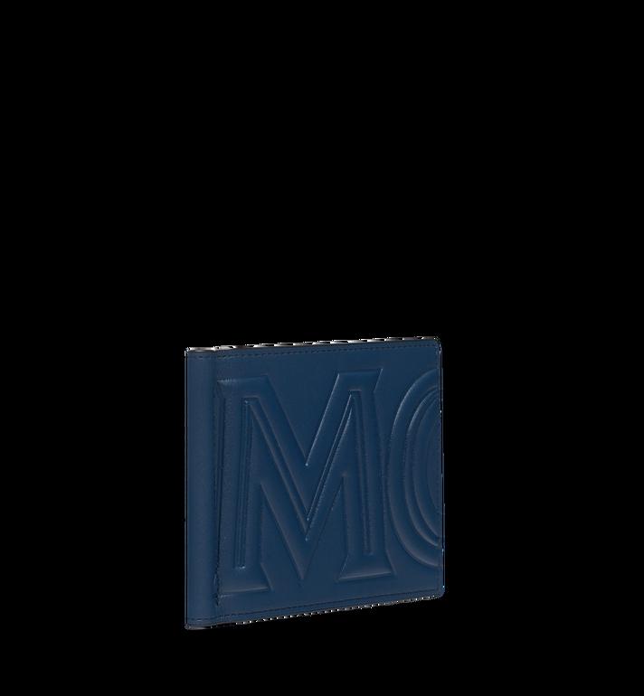 MCM Brieftasche mit Geldscheinklammer und MCM Injection Logo Navy MXC9SCL03VA001 Alternate View 2