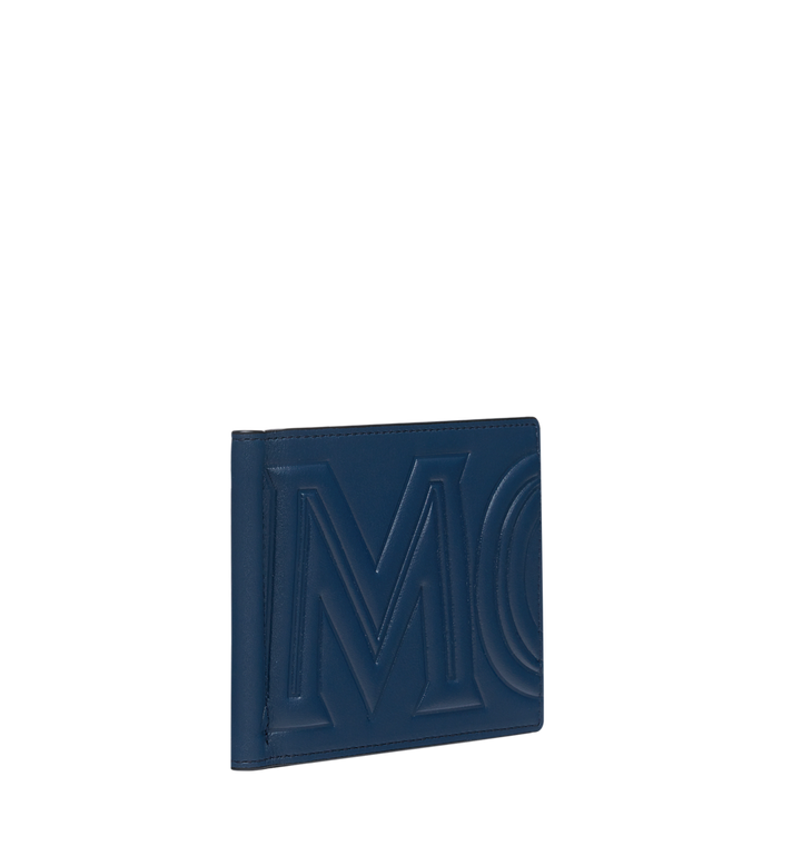 MCM Money Clip Wallet in MCM Injection Logo Navy MXC9SCL03VA001 Alternate View 2