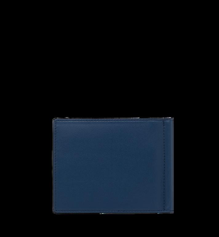 MCM Brieftasche mit Geldscheinklammer und MCM Injection Logo Navy MXC9SCL03VA001 Alternate View 3