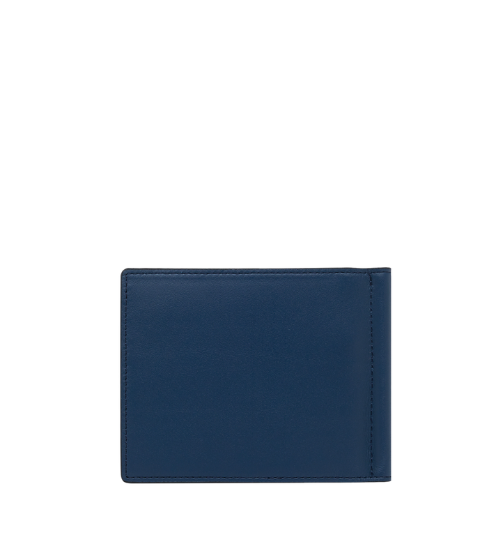 MCM Money Clip Wallet in MCM Injection Logo Navy MXC9SCL03VA001 Alternate View 3
