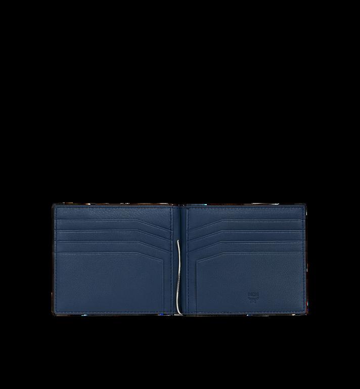 MCM Brieftasche mit Geldscheinklammer und MCM Injection Logo Navy MXC9SCL03VA001 Alternate View 4