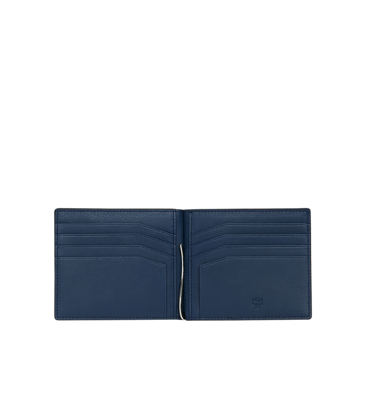 MCM Portefeuille avec pince à billets en MCM Injection Logo Navy MXC9SCL03VA001 Alternate View 4