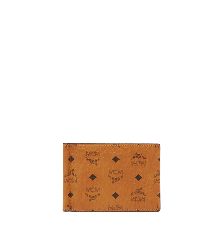 MCM Money Clip Wallet in Visetos Original Alternate View
