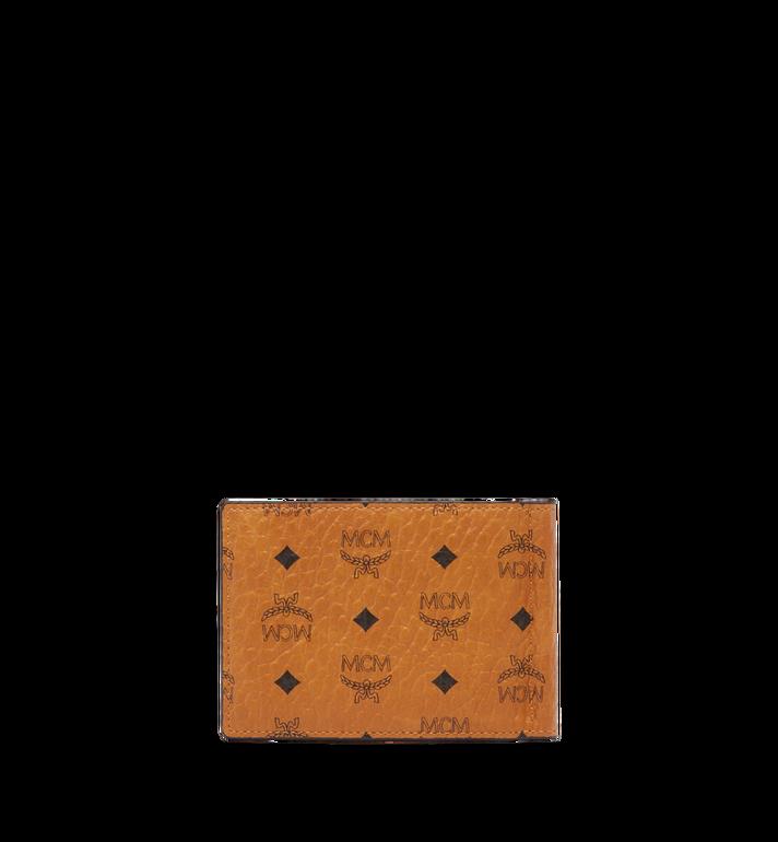 MCM Money Clip Wallet in Visetos Original Cognac MXCAAVI01CO001 Alternate View 3
