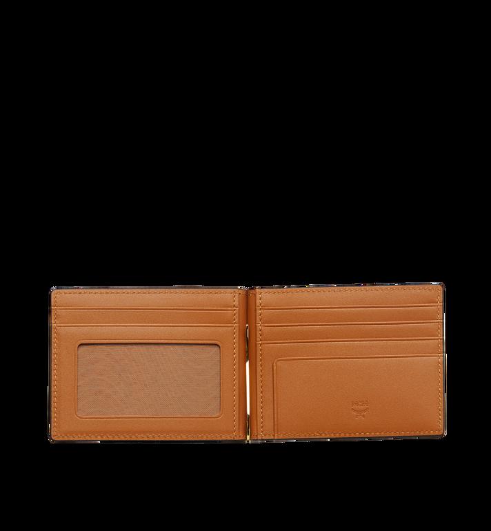 MCM Money Clip Wallet in Visetos Original Cognac MXCAAVI01CO001 Alternate View 4