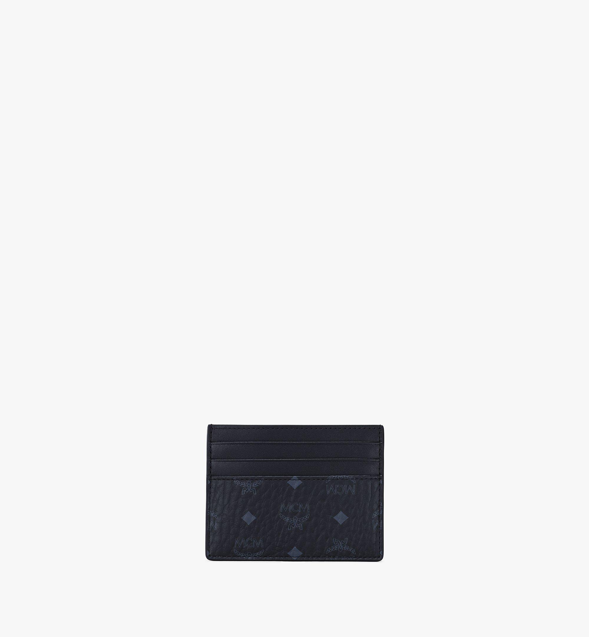 MCM Money Clip Card Case in Visetos Original Black MXCAAVI02BK001 Alternate View 4