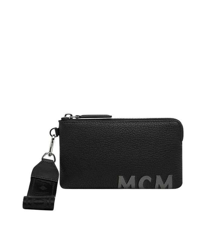 MCM Tech Pouch in Logo Print Leather Alternate View