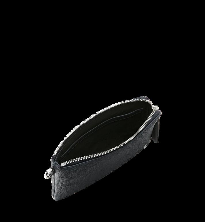 MCM Beutel für Elektrogeräte aus Leder mit Logo-Print Black MXE9SBM01BK001 Alternate View 4