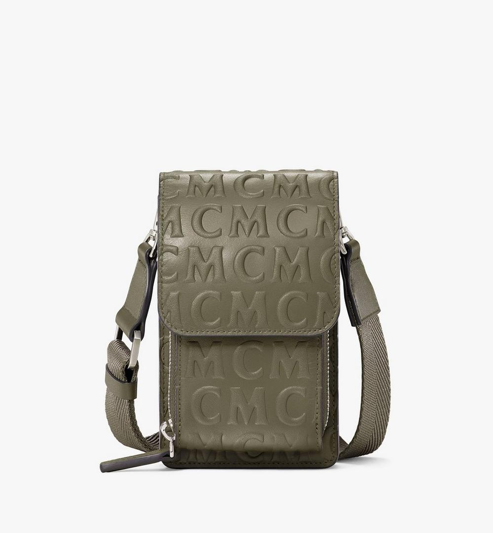 Crossbody Phone Case in MCM Monogram Leather 1