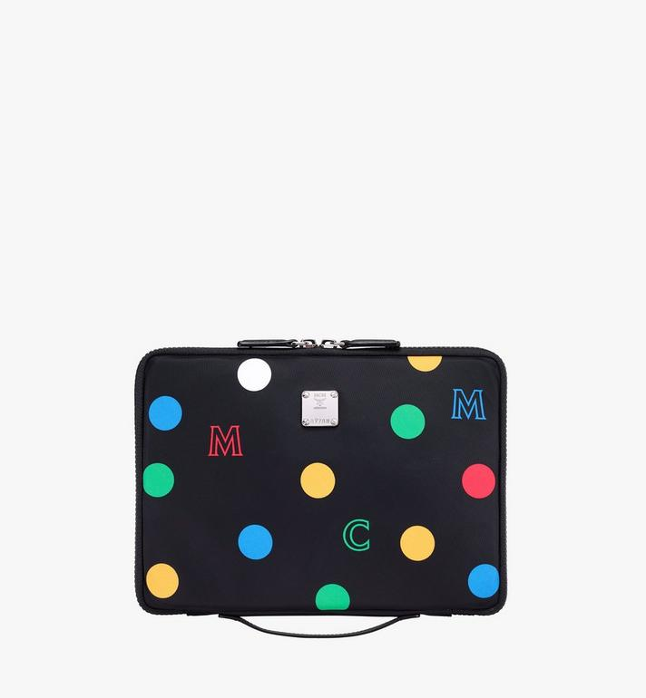 "MCM 11"" iPad Case in Polka Dot Nylon Alternate View"