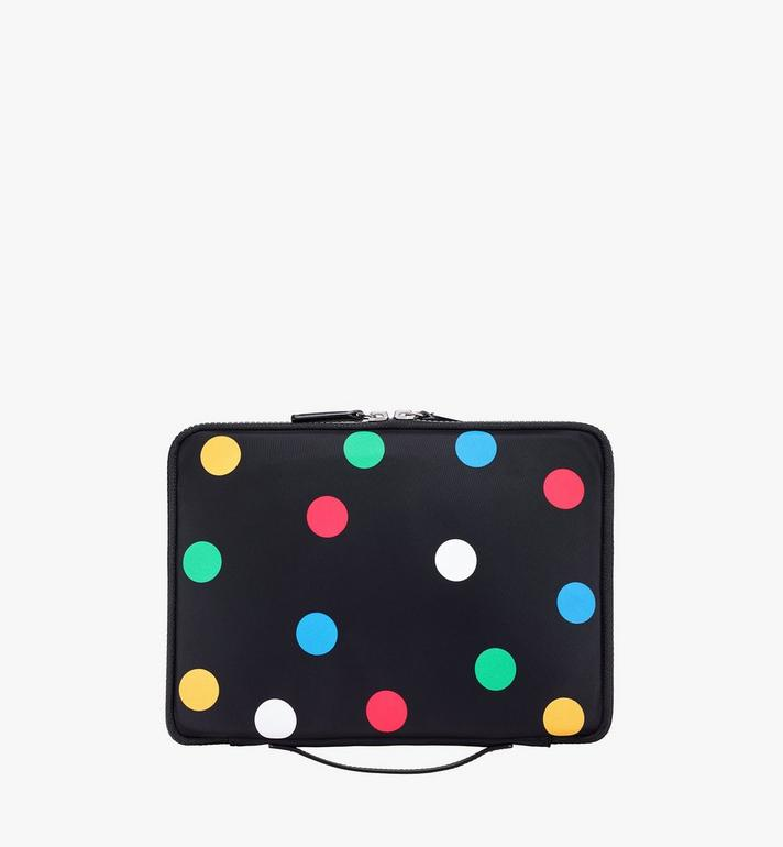 "MCM 11"" iPad Case in Polka Dot Nylon  MXEAAPD02BK001 Alternate View 3"