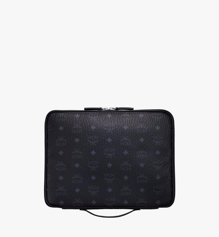 """MCM 13"""" iPad Case in Visetos Original Black MXEAAVI03BK001 Alternate View 3"""