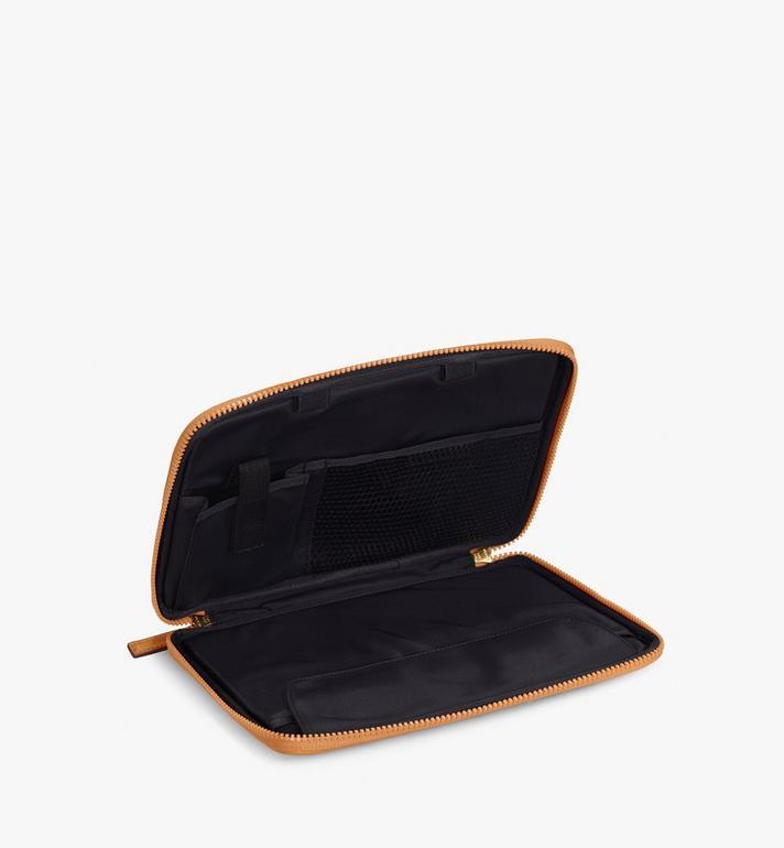 """MCM 11"""" iPad Case in Visetos Original Cognac MXEAAVI04CO001 Alternate View 2"""