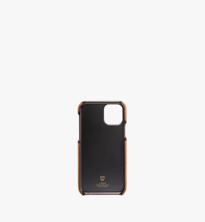 MCM iPhone 11 Pro Case in Visetos Original Cognac MXEAAVI05CO001 Alternate View 2