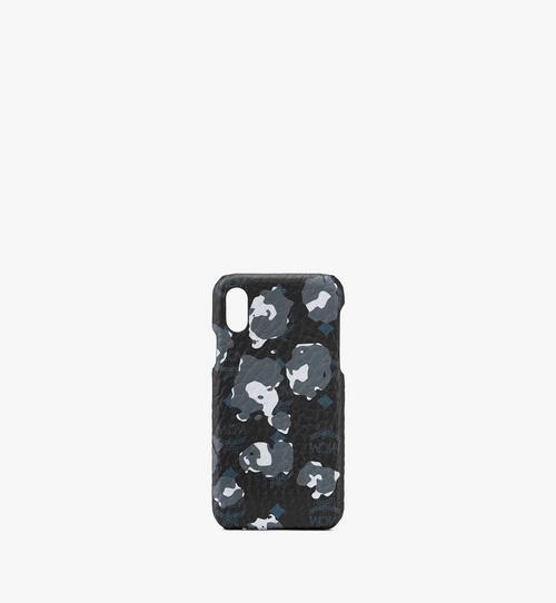 iPhone Hülle mit geblümtem Leopardenmuster