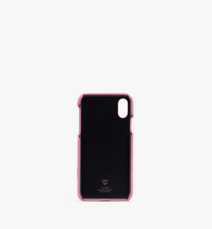 MCM iPhone Hülle mit geblümtem Leopardenmuster Pink MXEASLF01QI001 Alternate View 2