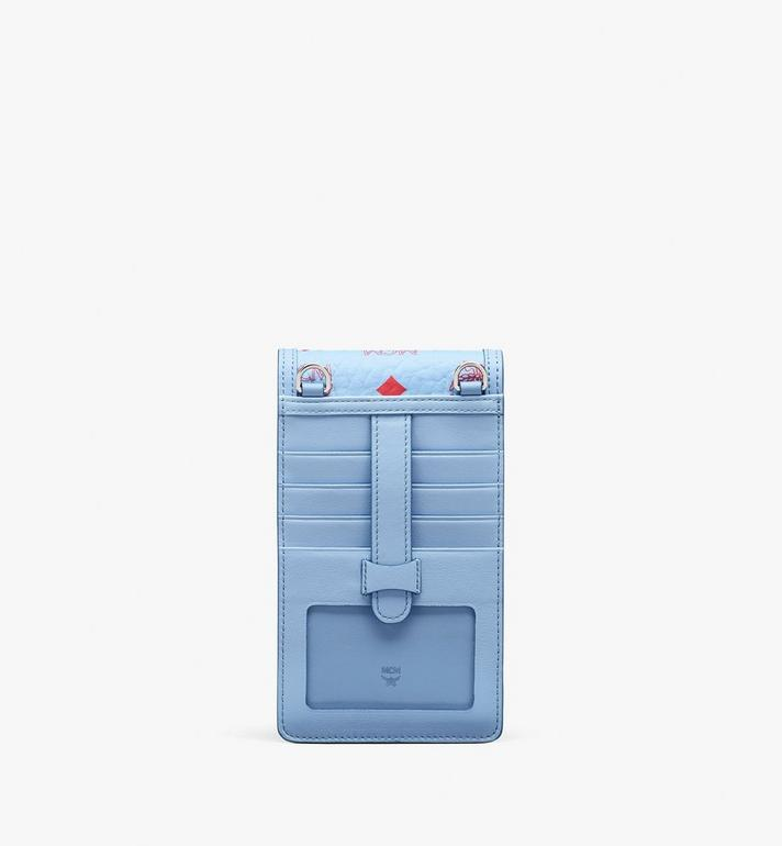 MCM Lanyard Phone Case in Visetos Blue MXEASVI01H2001 Alternate View 3
