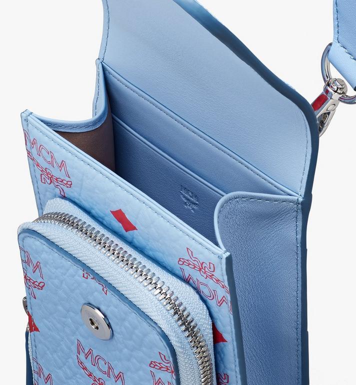 MCM Smartphonehülle in Visetos mit Schlüsselband Blue MXEASVI01H2001 Alternate View 4