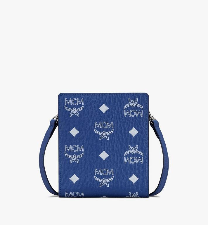 MCM Visetos 皮革多功能掛繩 Blue MXEASVI02H1001 Alternate View 1