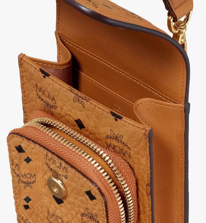 MCM Crossbody Phone Case in Visetos Cognac MXEASVI03CO001 Alternate View 4