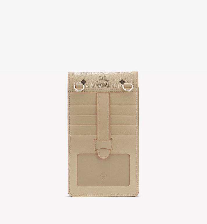 MCM Crossbody Phone Case in Visetos Gold MXEASVI03T1001 Alternate View 3