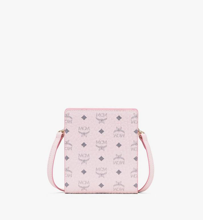 MCM Visetos皮革多功能掛繩 Pink MXEASVI04QH001 Alternate View 1