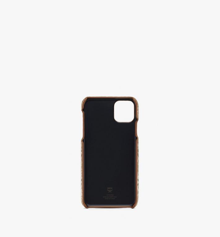 MCM iPhone 11 Pro Max Case in Visetos Gold MXEASVI08T1001 Alternate View 2