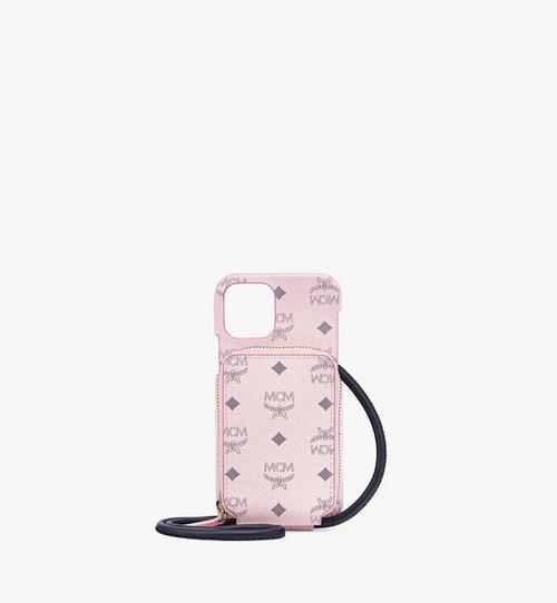 Coque pour iPhone12 et 12Pro avec poche zippée en Visetos Original