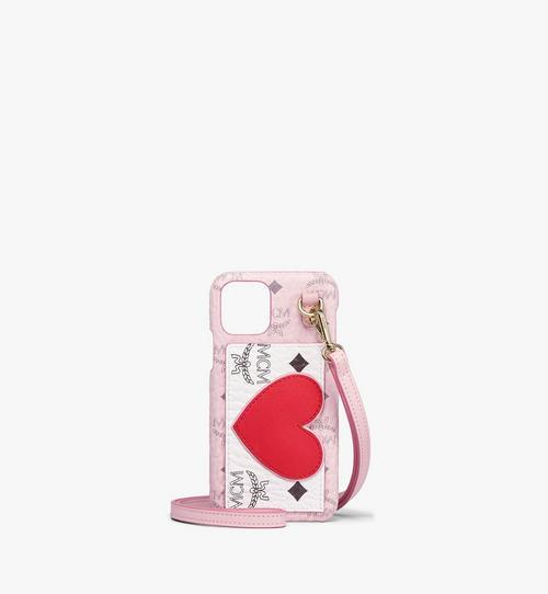 iPhone 11 Pro Case in Valentine Visetos Leather Mix